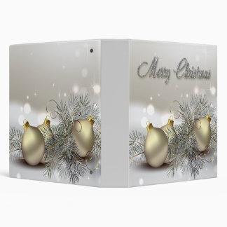 """Ornamentos del navidad del reflejo del oro y de la carpeta 1 1/2"""""""