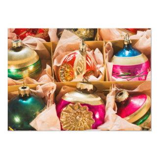 """Ornamentos del navidad del vintage invitación 5"""" x 7"""""""