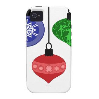 Ornamentos del navidad iPhone 4/4S funda