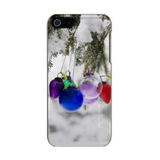 Ornamentos del navidad carcasa de iphone 5 incipio feather shine