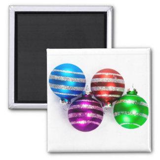 Ornamentos del navidad imán cuadrado