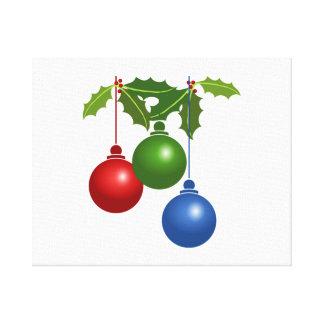 Ornamentos del navidad impresión en lienzo estirada