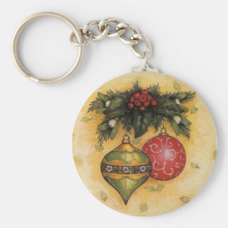 Ornamentos del navidad llavero redondo tipo pin
