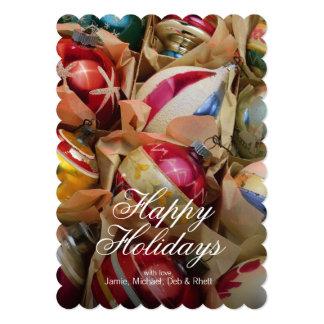"""Ornamentos del navidad llenos comodamente invitación 5"""" x 7"""""""