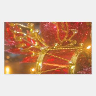 Ornamentos del navidad pegatina rectangular
