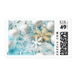 Ornamentos del navidad sello postal
