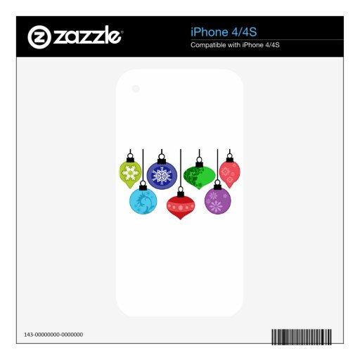 Ornamentos del navidad skins para eliPhone 4S