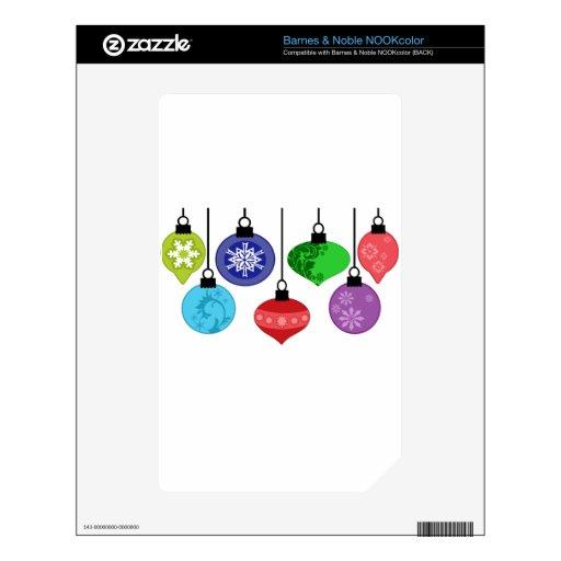 Ornamentos del navidad skins para elNOOK color
