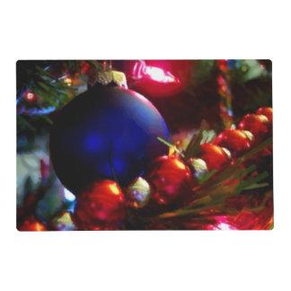 Ornamentos del navidad tapete individual