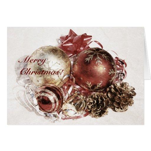 Ornamentos del navidad - tarjeta de las Felices Na