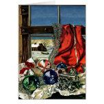 Ornamentos del navidad tarjeta pequeña
