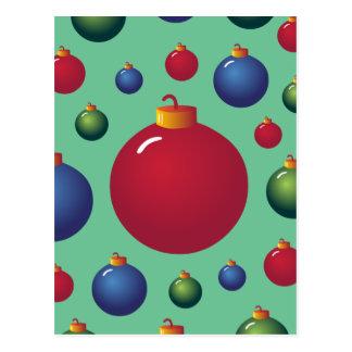 Ornamentos del navidad tarjeta postal