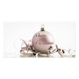 Ornamentos del navidad tarjetas personales con fotos