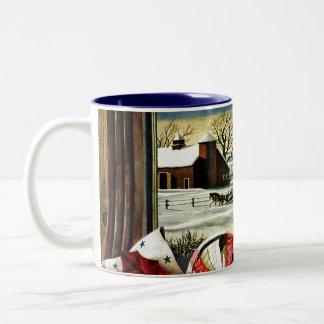 Ornamentos del navidad taza de café