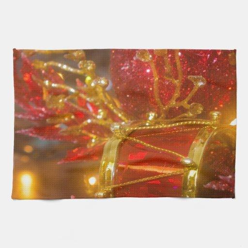 Ornamentos del navidad toalla
