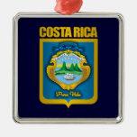 """""""Ornamentos del oro de Costa Rica"""" Adorno Navideño Cuadrado De Metal"""