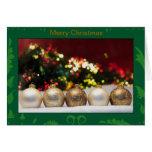 Ornamentos del oro del navidad tarjetas