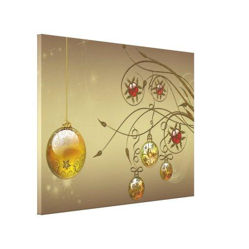 Ornamentos del oro impresion en lona