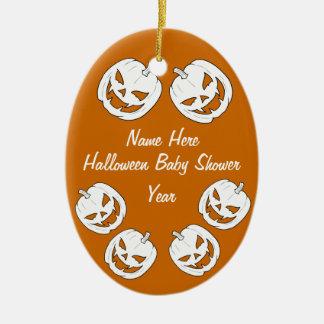 Ornamentos del óvalo de la fiesta de bienvenida al adorno navideño ovalado de cerámica