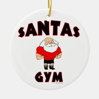 Ornamentos del personalizado del gimnasio de adorno navideño redondo de cerámica