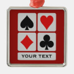 Ornamentos del personalizado del jugador de tarjet ornamento para arbol de navidad
