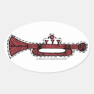 Ornamentos del vintage pegatina ovalada