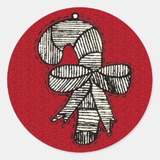 Ornamentos del vintage pegatina redonda