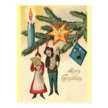 Ornamentos del vintage tarjeta postal