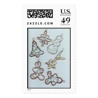 Ornamentos diversos del navidad sellos