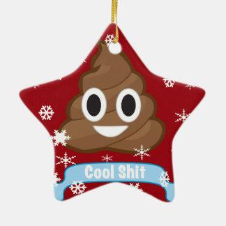 Ornamentos divertidos del navidad de Emoji del Adorno Navideño De Cerámica En Forma De Estrella