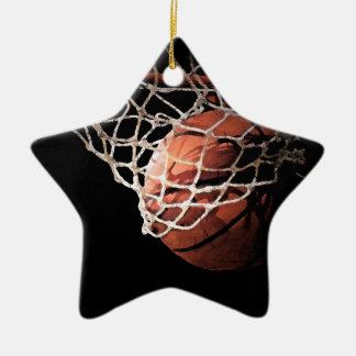 Ornamentos elegantes del baloncesto de Contemporay Adorno De Cerámica En Forma De Estrella