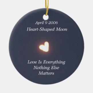 Ornamentos en forma de corazón de la luna ornamentos para reyes magos