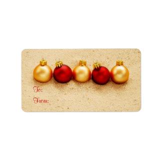 Ornamentos en la etiqueta de la etiqueta del regal etiquetas de dirección