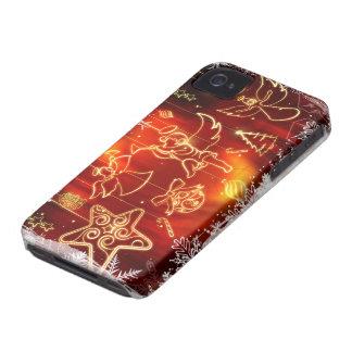 Ornamentos encendidos del navidad (estrella, iPhone 4 Case-Mate funda