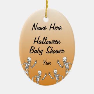 Ornamentos esqueléticos del óvalo de la fiesta de adorno navideño ovalado de cerámica