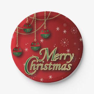 Ornamentos festivos de las Felices Navidad
