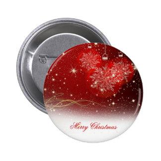 """Ornamentos festivos de los copos de nieve """"de las pin redondo de 2 pulgadas"""