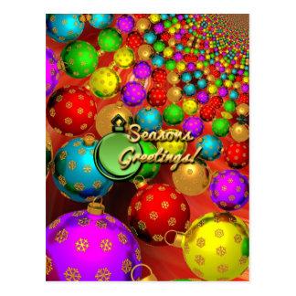 Ornamentos flotantes del día de fiesta tarjetas postales