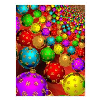 Ornamentos flotantes del día de fiesta tarjeta postal