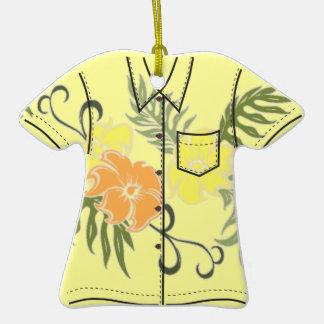 Ornamentos hawaianos de la camisa de hawaiana de adorno de cerámica en forma de playera