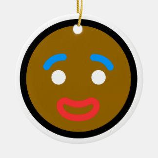 "Ornamentos ""hombre de pan de jengibre "" de Navidad Adorno Navideño Redondo De Cerámica"