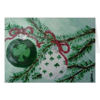 Ornamentos irlandeses del navidad tarjeta pequeña
