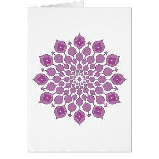 Ornamentos islámicos que saludan rosa Tarjeta-oscu