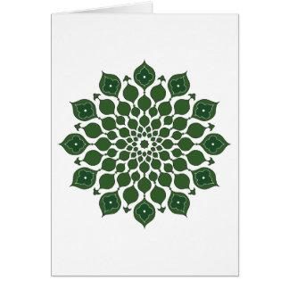 Ornamentos islámicos que saludan verde Tarjeta-osc