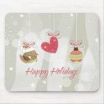 Ornamentos lindos del navidad alfombrilla de ratón