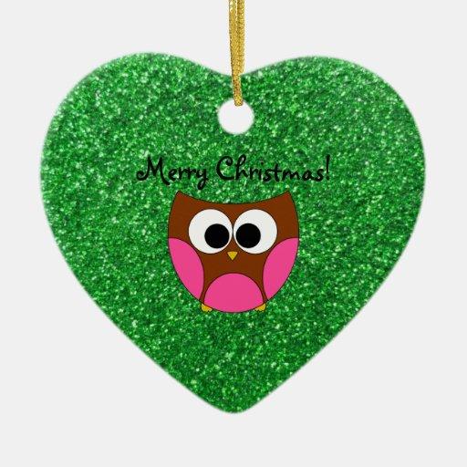 Ornamentos lindos del navidad del búho ornamente de reyes
