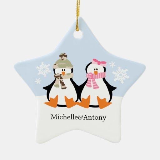Ornamentos militares del navidad de los pares adorno navideño de cerámica en forma de estrella
