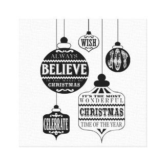 ornamentos modernos del navidad del vintage impresiones en lona estiradas