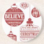 ornamentos modernos del navidad del vintage posavasos diseño
