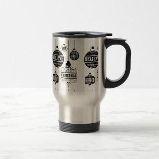 ornamentos modernos del navidad del vintage tazas de café